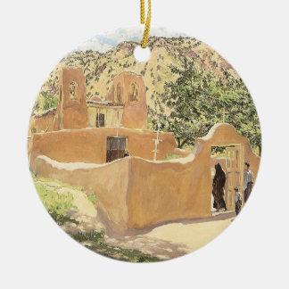 Ornement Rond En Céramique Oferta Para San Esquipula par Walter Ufer