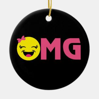 Ornement Rond En Céramique OMG Emoji Cutie