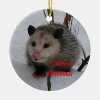 Ornement Rond En Céramique Opossum