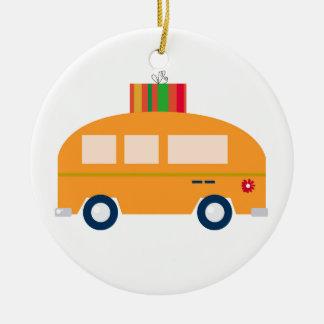 Ornement Rond En Céramique Or d'autobus de conception