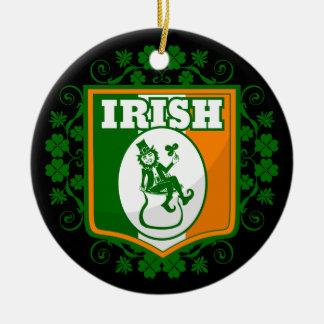Ornement Rond En Céramique Or de lutin de Jour de la Saint Patrick