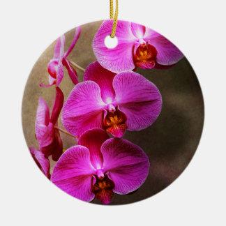 Ornement Rond En Céramique Orchidée - Phalaenopsis - l'orchidée de mite