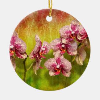 Ornement Rond En Céramique Orchidée - Phalaenopsis - simplement un plaisir