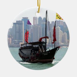 Ornement Rond En Céramique Ordure chinoise, Hong Kong 2
