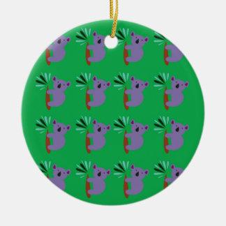 Ornement Rond En Céramique Organique de coalas de conception bio