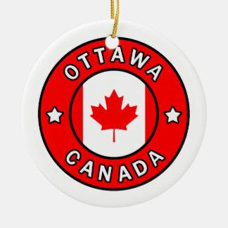 Ornement Rond En Céramique Ottawa Canada