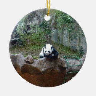 Ornement Rond En Céramique Ours panda