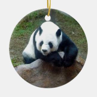 Ornement Rond En Céramique Ours panda chinois