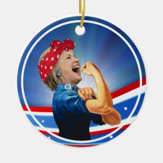 Ornement Rond En Céramique Ouvrière présidentielle de ?ère femme de Hillary