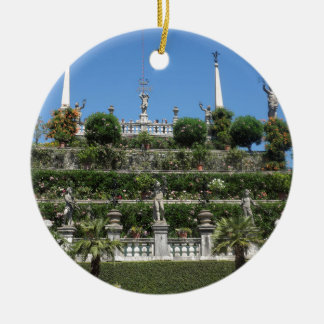 Ornement Rond En Céramique Palais de Borromeo dans Stresa, Italie