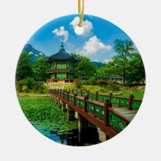 Ornement Rond En Céramique Palais de Gyeongbokgung, Corée du Sud