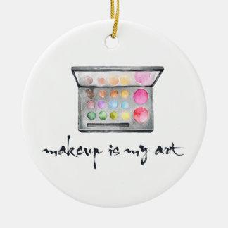 """Ornement Rond En Céramique Palette de maquilleur - le """"maquillage est"""