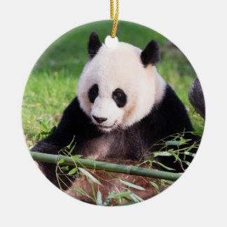 Ornement Rond En Céramique Panda géant Mei Xiang