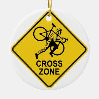 Ornement Rond En Céramique Panneau routier de zone de Cyclocross
