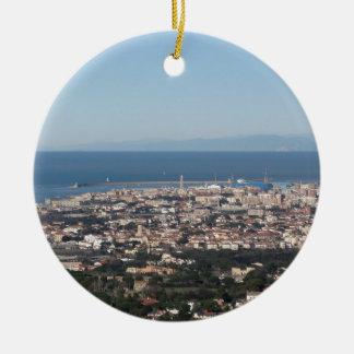 Ornement Rond En Céramique Panorama aérien de ville Toscane Italie de