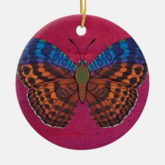 Ornement Rond En Céramique Papillon de forestier de Tentyris