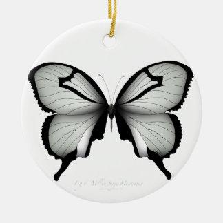Ornement Rond En Céramique Papillon sage de chasseur de vallée