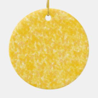 Ornement Rond En Céramique Papillons jaunes d'insecte