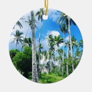 Ornement Rond En Céramique Paradis dans le Pacifique