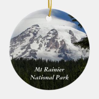 Ornement Rond En Céramique Parc national de mont Rainier
