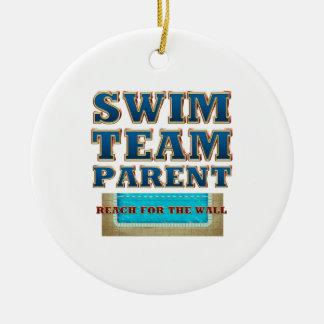 Ornement Rond En Céramique Parent SUPÉRIEUR d'équipe de natation