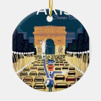 Ornement Rond En Céramique Paris Arc de Triomphe