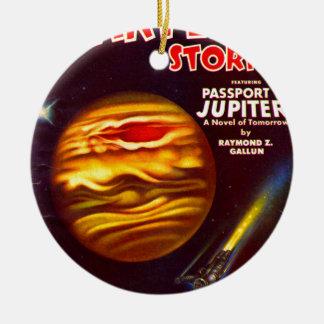 Ornement Rond En Céramique Passeport à Jupiter