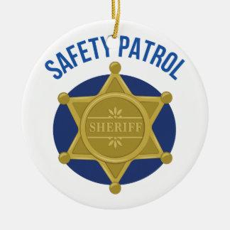 Ornement Rond En Céramique Patrouille de sécurité