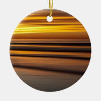 Ornement Rond En Céramique Paysage marin abstrait au coucher du soleil, CA