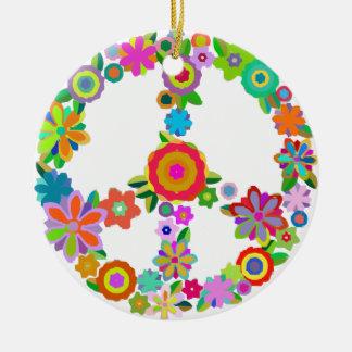Ornement Rond En Céramique peace10