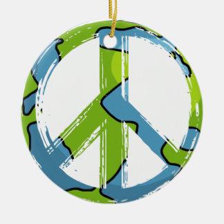 Ornement Rond En Céramique peace6