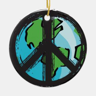 Ornement Rond En Céramique peace7
