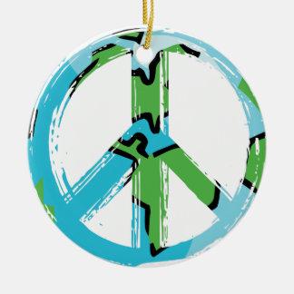 Ornement Rond En Céramique peace8