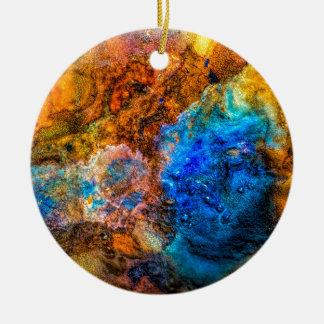 Ornement Rond En Céramique Peinture colorée de texture abstraite de pierre