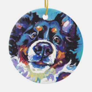 Ornement Rond En Céramique Peinture d'art de bruit de chien de montagne de