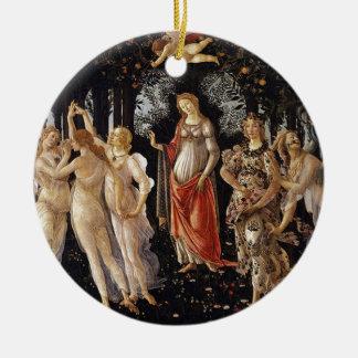 Ornement Rond En Céramique Peinture de Botticelli Primavera