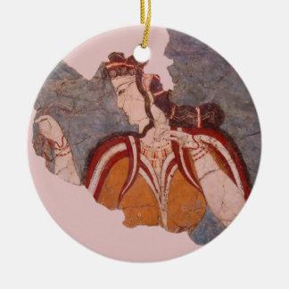 Ornement Rond En Céramique Peinture de mur de Minoan