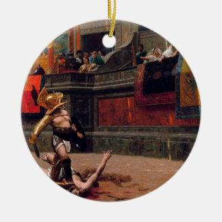 Ornement Rond En Céramique Peinture de verso de Pollice