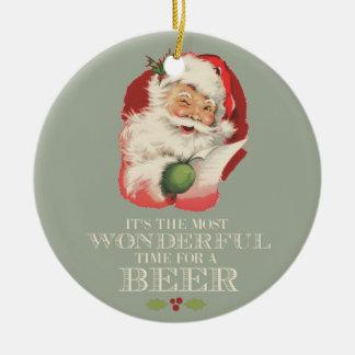 Ornement Rond En Céramique Père Noël drôle la plupart de temps merveilleux