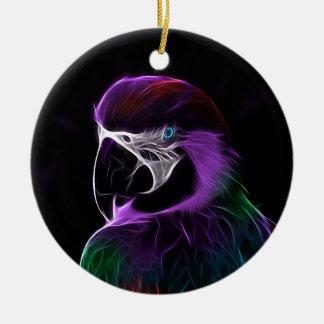 Ornement Rond En Céramique perroquet #2