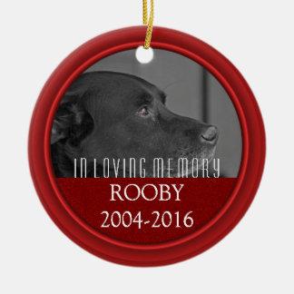 Ornement Rond En Céramique Perte commémorative de chien personnalisée par |