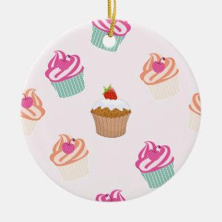 Ornement Rond En Céramique Petits gâteaux et petits pains