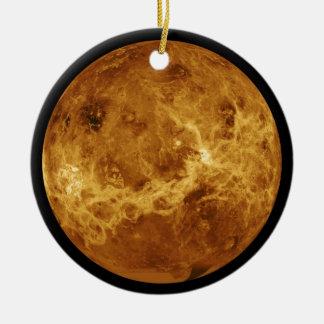 Ornement Rond En Céramique Photo de la planète Vénus