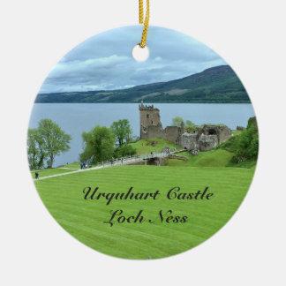 Ornement Rond En Céramique Photo de paysage de Loch Ness Ecosse de château