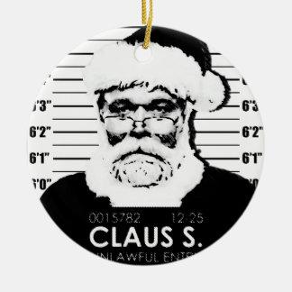 Ornement Rond En Céramique Photo de Père Noël