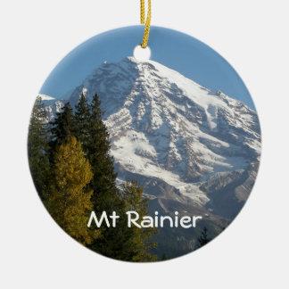 Ornement Rond En Céramique Photo de vue du mont Rainier