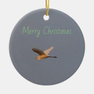 Ornement Rond En Céramique Photo d'oiseau