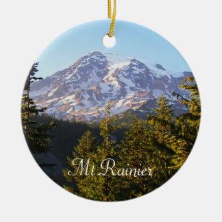 Ornement Rond En Céramique Photo pittoresque du mont Rainier
