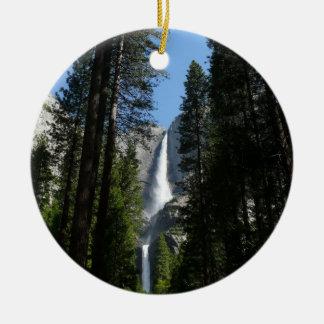 Ornement Rond En Céramique Photographie de paysage de Yosemite Falls et en