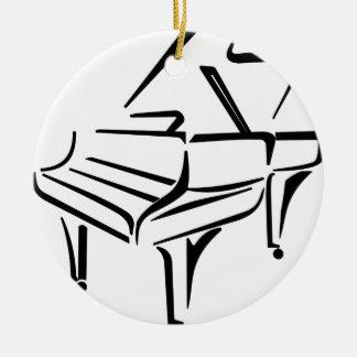 Ornement Rond En Céramique Piano stylisé